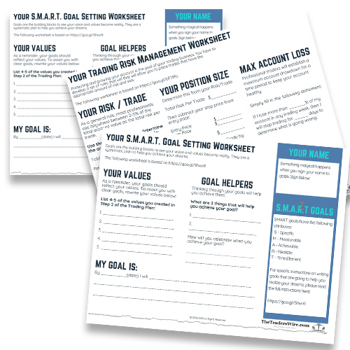 The Trading Plan Worksheets